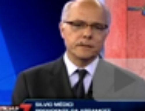 Entrevista com Silvio Médici veiculada no programa Notícias das 7 da RedeTV.